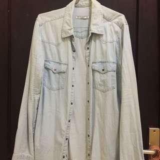 Kemeja Jeans Pull&Bear / Jaket Jeans Pull & Bear