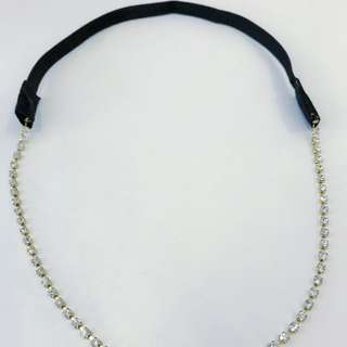 silver gold headband