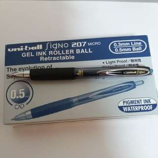 12 Uni-ball Signo 207 micro gel ink roller-ball set