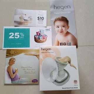 BNIB Hegen manual breast pump