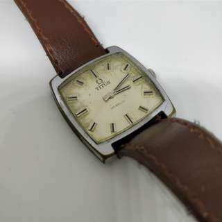 Vintage Titus hand wound mechanical watch