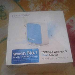 TP Link Travel Nano Wireless Router