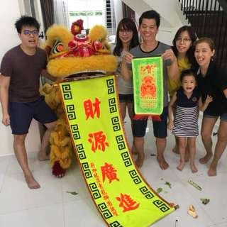 Lion dance for event