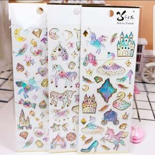 Clear Mobile Phone Unicorn Stickers Epoxy