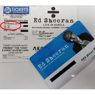 Ed Sheeran Patron B tickets