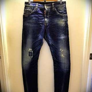 DSQUARED2 深藍色牛仔褲