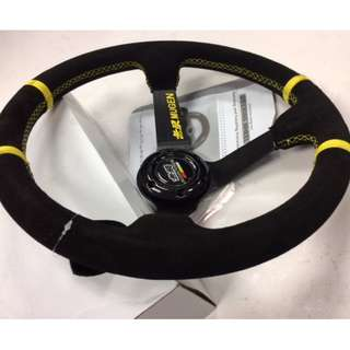 MUGEN steering reverse leather 13.5'' model 41215