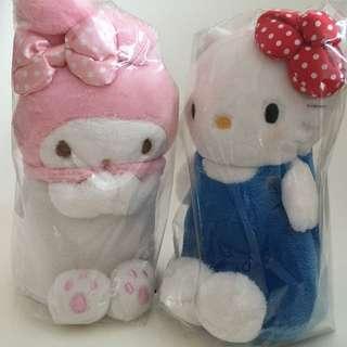 2 for $ 35 My Melody & Hello Kitty plush pen holder / storage / stand vase