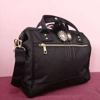 BN Black Anello Style Boston Bag (Large)