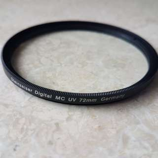 Lens filters - polarizing and UV filters 72mm