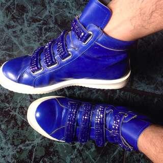 highcut blue shoe