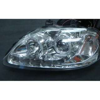Honda Civic 99-00 LED projector head lamp with day   driving light chrome clear model 33027