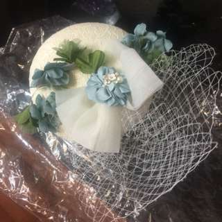 Pre wedding 白色 禮帽 white lace hat