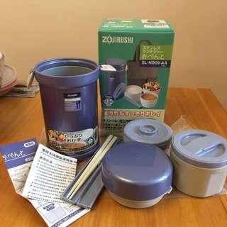 全新ZOJIRUSHI不銹鋼保溫便當盒飯壺
