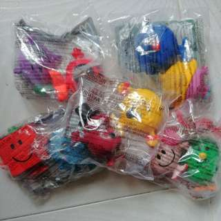 100%新 未開封 麥當勞開心樂園餐Mr Men Little Miss 玩具 $8/1隻
