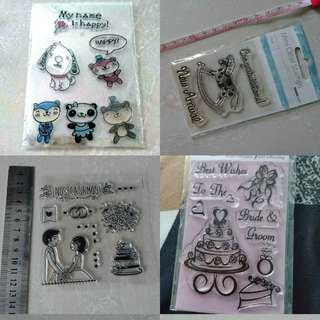 Clear Stamps brand new each piece