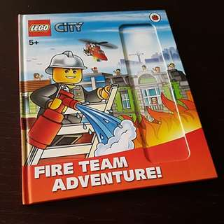 BN authentic lego fire team adventure hard cover