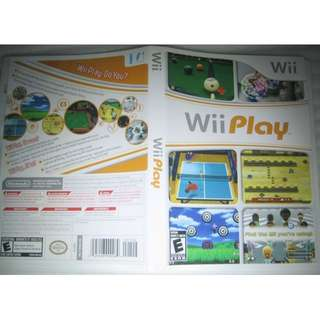 Wii game disc: Wii Play . for Wii console US version (NTSC format disc)