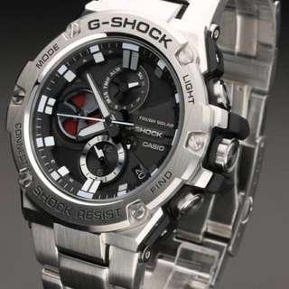 Authentic Original G-Steel G-Shock GST-B100D Tough Solar Silver Black Series! Casio Sale Offer Brand New Full Box! Limited Stock First Come First Served 😎👍