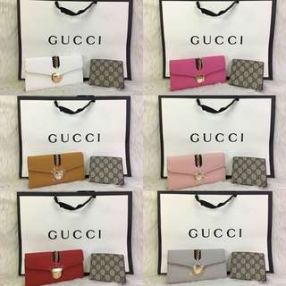 2 in 1 GUCCI Purse Wallet Set (FREE POSTAGE)