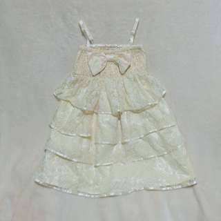 EUC Forever 21 girls Cream Dress XS 4 to 6 years old