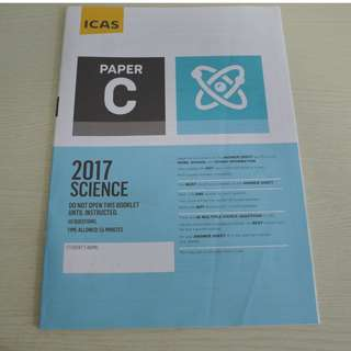 UNSW Australia ICAS Paper C (Primary 4) Science Year 2017