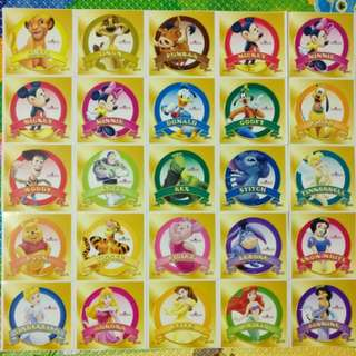 迪士尼貼紙 *Disney Stickers*   25連張