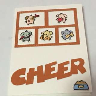 Cheer Birthday card