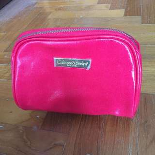 BN Crabtree and Evelyn Red Make Up Case