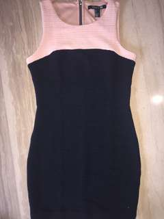 mini black dress pink forever21