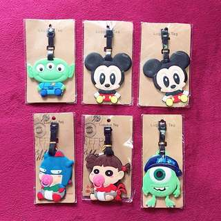 CHARACTERS LUGGAGE TAGS