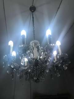 Old chandelier with crystals