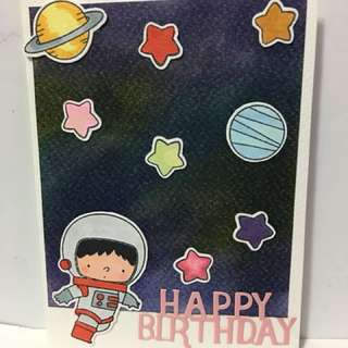 Space Explorer Birthday Card
