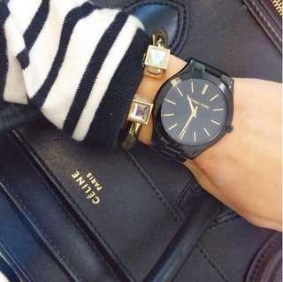 Michael Kors Runway Slim black 36mm/33mm Unisex watch like fossil nike adidas