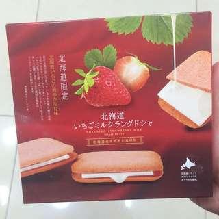 日本直運 士多啤梨夾心餅