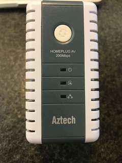 Aztech 200Mbs HOMEPLUG AV Ethernet Adapter