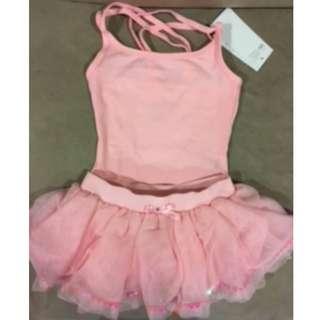 Light pink ballet leotard and tutu set (6-8 yo)
