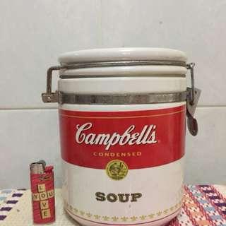 金寶燙 6吋高 陶瓷 密實瓶 Campbell's Soup