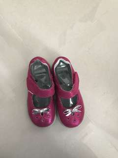 Pediped glittery pink toddler pumps