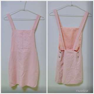 Zara女童粉紅吊帶裙