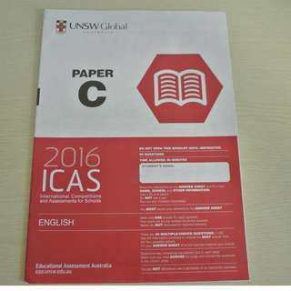 UNSW Australia ICAS Paper C (Primary 4) English Year 2016