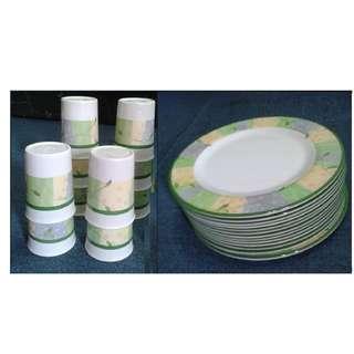 Melaware Plates and Tumblers