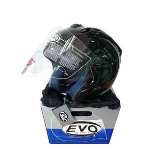EVO RS959 GLOSS BLACK HELMET