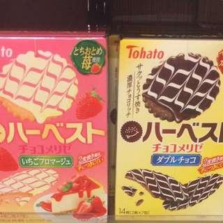 日本 士多啤梨蛋糕餅 朱古力餅