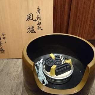 日本純銅風爐、名家款、淨雲造