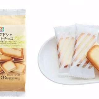 🚚 預購 日本代購 7-11 曲奇餅乾 白巧克力酥餅 另售白色戀人 9個入/包