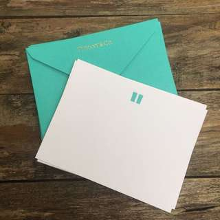 Tiffany & co. Gift card and envelope ( x 8)