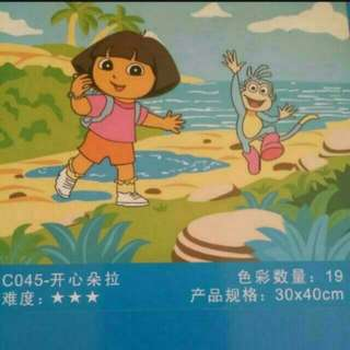 Dora diy painting