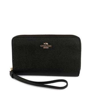 Coach Phone Wallet (Black)