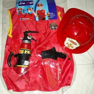 Fireman Costume with accessories